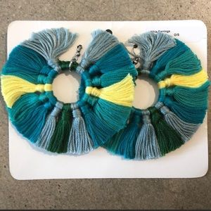 Roller rabbit tassel earrings